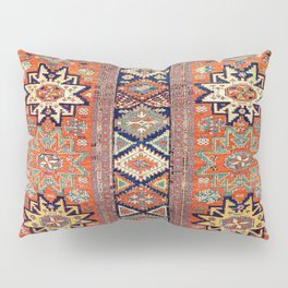 Southwestern Farmhouse V // 19th Century Colorful Red Yellow Blue Green Aztec Farm Stars Pattern Pillow Sham