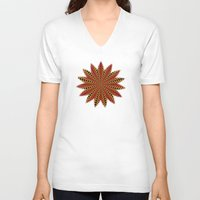 spanish V-neck T-shirts featuring Spanish sun by Bubblemaker
