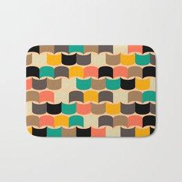 Retro abstract pattern Bath Mat