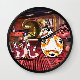 Porgs & BB-8 Wall Clock