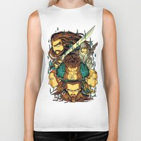 hobbit Biker Tanks featuring The Hobbit by anggatantama