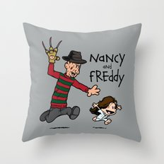 Nancy and Freddy Throw Pillow