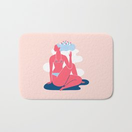Yoga Girls 3 Lady of the Fishes Pose Bath Mat