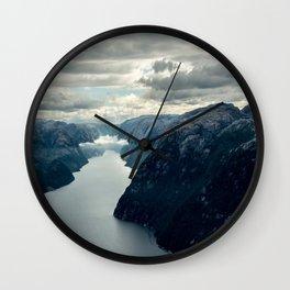 Moody landscape III Wall Clock