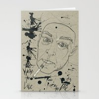 hunter s thompson Stationery Cards featuring Hunter S Thompson by Nicostman