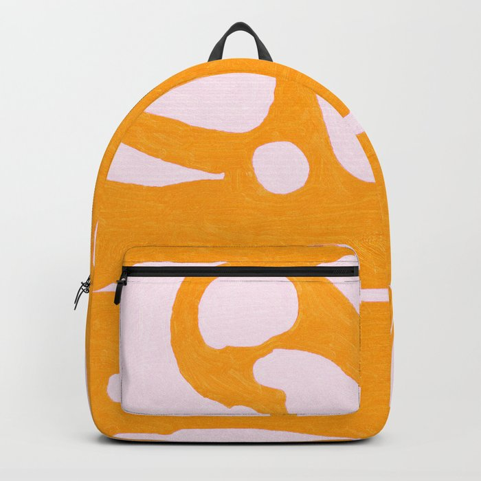 Abstract in Yellow and Cream Backpack