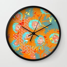 Floral popart Wall Clock