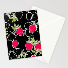 Plan strawberries Stationery Cards