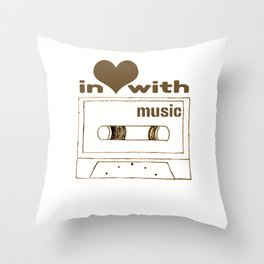 in love with music Throw Pillow
