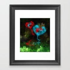 Two Hearts Framed Art Print
