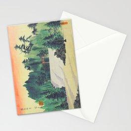 Tokuriki Tomikichiro Scenes of Sacred Places and Historic Landmarks Kirishima Jingu Shrine Japanese Stationery Cards
