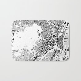 Montreal building city map Bath Mat