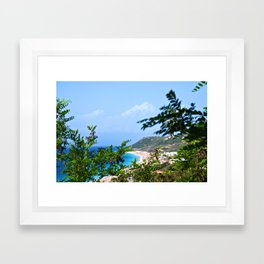 The Sea and Mountains Framed Art Print