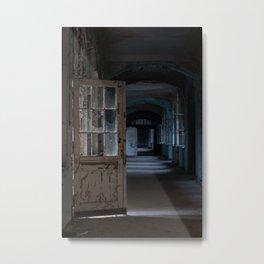 Blues, abandoned hospital Metal Print