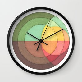 Concentric Circles Forming Equal Areas Wall Clock