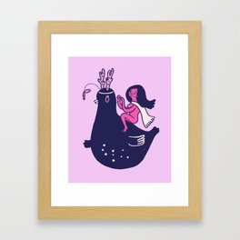 Planet Princess Framed Art Print