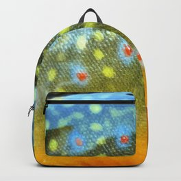 Brook Trout Skin Fly Fishing Backpack
