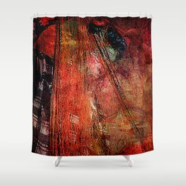 Sicilian Fisherman (This Artwork is a collaboration with the talented artist design  Ganech Joe) Shower Curtain