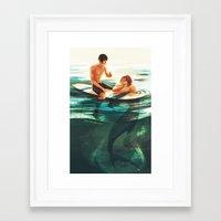 viria Framed Art Prints featuring rinharu by viria