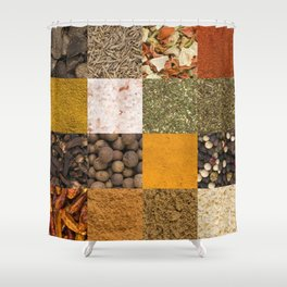 Set of Spices Shower Curtain