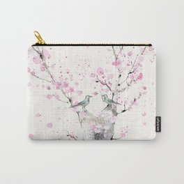 Cherry Blossoms And Birds Carry-All Pouch