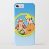 aquaman iPhone & iPod Cases featuring Aquaman and Mera Get Married Underwater by Hoboxia