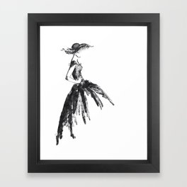 Retro fashion sketch Framed Art Print