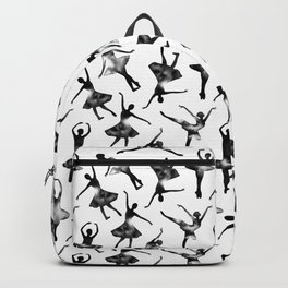 Watercolor Ballerinas (Black) Backpack