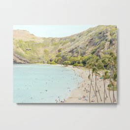 Sunshiny Day, Hawaii Beach Photography Metal Print