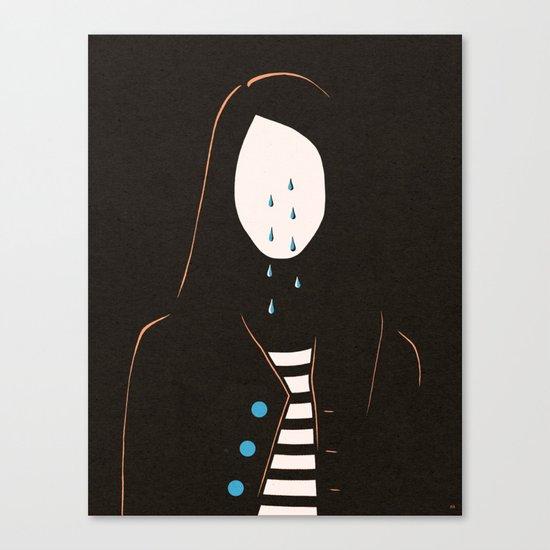 Down Cycle Canvas Print