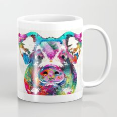 Colorful Pig Art - Squeal Appeal - By Sharon Cummings Mug