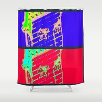 gangster Shower Curtains featuring Hot N Cold Gangster by James Eye