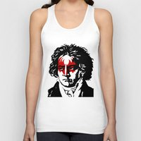 beethoven Tank Tops featuring Beethoven Rock by futbolko