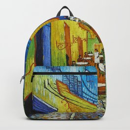 "Vincent van Gogh ""Cafe Terrace, Place du Forum, Arles"" Backpack"