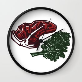 Steak and Kale Wall Clock