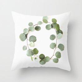 Eucalyptus Circle Throw Pillow