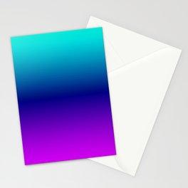 Aqua Ombre Stationery Cards