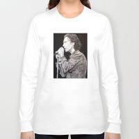 eddie vedder Long Sleeve T-shirts featuring Eddie Vedder - Pearl Jam by whiterabbitart