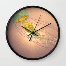 jellyfish-red Wall Clock