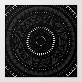 Doodle Circle Canvas Print