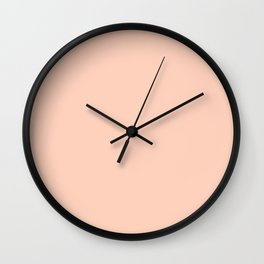 Romantic Pale Peach Wall Clock