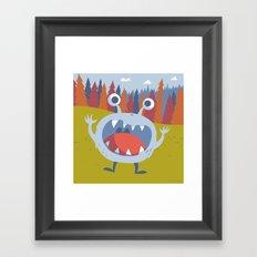 Suprise Monster Framed Art Print