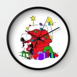 Snoopy Christmas Gift Wall Clock