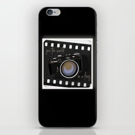 Camera Vintage: see the world in a lens iPhone Skin