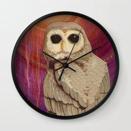Skulking by Owl Light Wall Clock