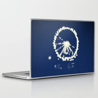 ferris wheel Laptop & iPad Skins featuring Ferris Wheel  by Lauren Lee Design's