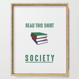 Book Society Introvert Anti-Social Bookworm Literature Reading Lovers Serving Tray