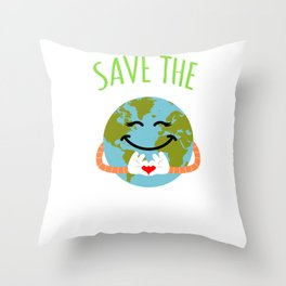 Save The Earth - Earth Day Throw Pillow
