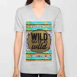 wild, wild, wild Unisex V-Neck