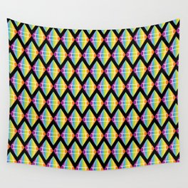 Abstract [RAINBOW] Emeralds pattern Wall Tapestry